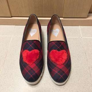 Katie Judith mo mo heart checkered shoes ❤️