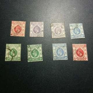 佐治五世郵票x8