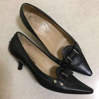 Tods black shoes