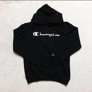 Champion Institutional Script Logo Sweatshirt Hoodie