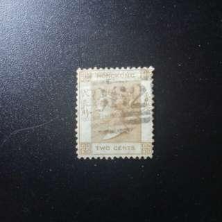 [lapyip1230] 香港 1863年 維多利亞 弍先時 VFU
