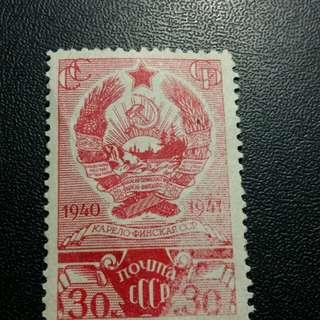 1941 蘇郵 錯體 票