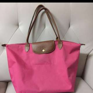 Longchamp pink bag 長柄袋