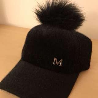 🚚 韓版毛球帽[黑]