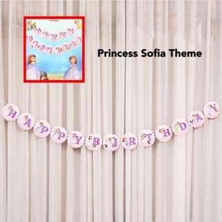 Happy Birthday Banner - Disney Theme