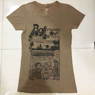 Brown Bali Vacation Tshirt