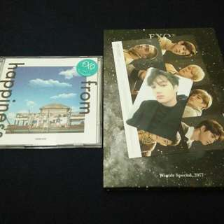 EXO FROM HAPPINESS DVD & UNIVERSE ALBUM