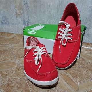 Sanuk Red Casa Barco Shoes