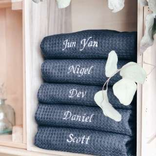 Customised hand towels
