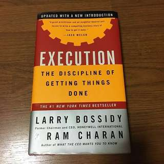 Execution | The Discipline of Getting Things Done #Huat50Sale