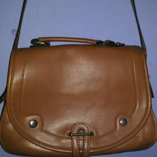 Sling Bag Brown Leather