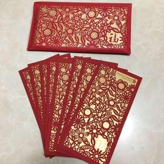 2018 渣打私人銀行 standard chartered private bank 紅色 利是封 長利是封 每包8個 連利是袋