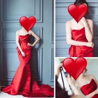 Serendipity 名牌 紅色晚裝裙
