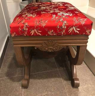 Clearing reduced New chinese upholstery victorian style stool