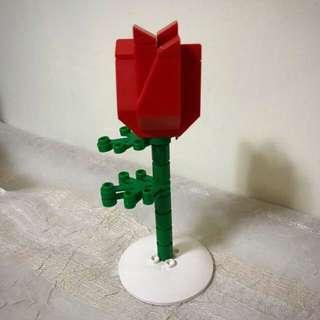 情人節Lego紅玫瑰花 red rose