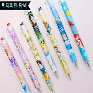 🚚 韓國文具用品 0.5原子筆 迪士尼公主系列