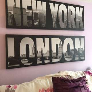 NY & London Signs
