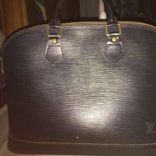LV Alma Pm Black Epi Leather