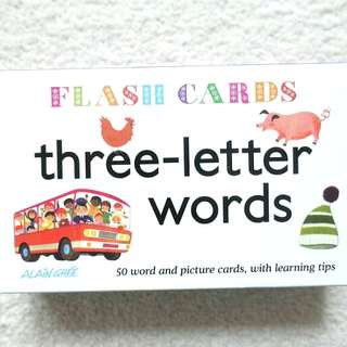 Three Letter Words Flash Cards 單字 學習 圖卡
