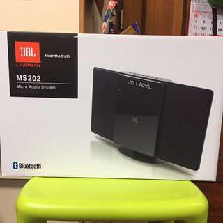 JBL MS202 micro audio system (CD player & Bluetooth)