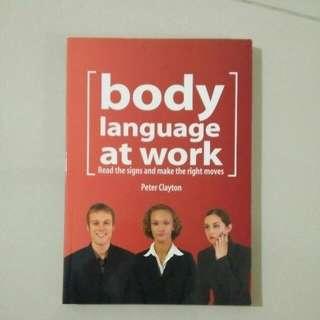 Colorful printed book. Body language at work