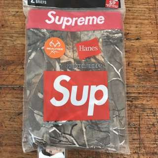 Supreme x Hanes realtree boxer briefs shorts new Authentic