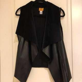 Vegan leather ruby rd black vest