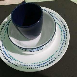 Corelle 16-piece Ocean blues dinnerware