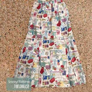 Sewing pattern skirt