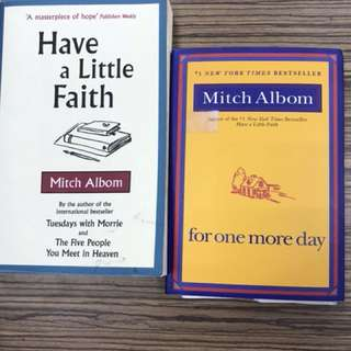 Mitch Albom Books(for one more day,have a little faith)