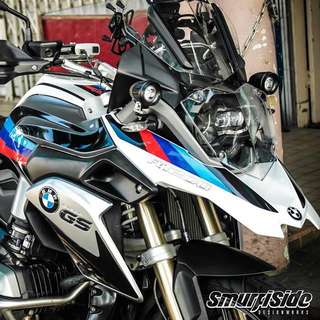 BMW GS1200 tricolor body and boxes decals