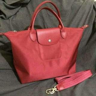 Longchamp Le Pliage Medium size - red