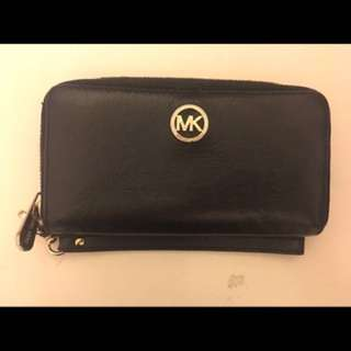 Michael Kors Black and gold logo wallet