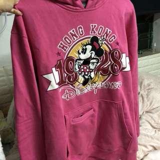 迪士尼樂園粉紅色有帽衛衣