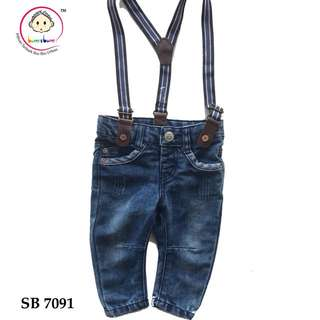 Jeans with suspender