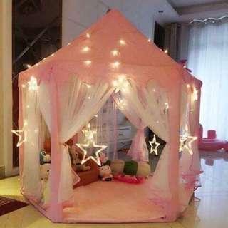 Tent + Lights + carpet+ decors