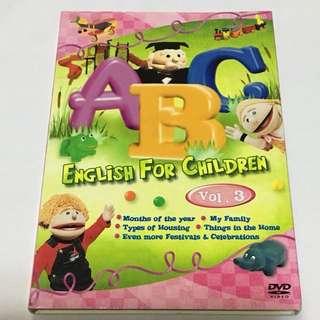 1DVD•CLEARANCE SALES {DVD, VCD & CD} ABC ENGLISH FOR CHILDREN Vol. 3 - DVD