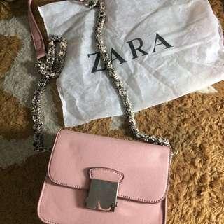Zara Sling bag baby pink