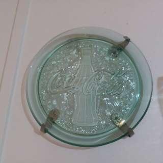 Coca cola glass tray