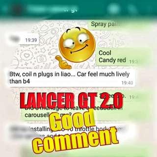 Pre CNY good comment by LANCER GT 2.0 ( Ignition coil + vk20 spark plug)