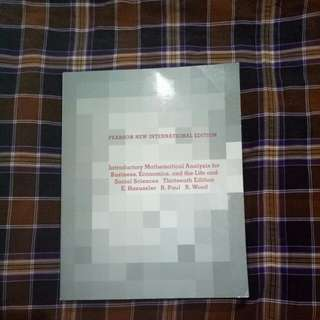 Pearson New Internasional Edition, Mathematical Analysis for Business