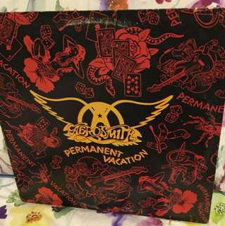 Aerosmith - permanent vacation - vinyl lp (one side damaged)