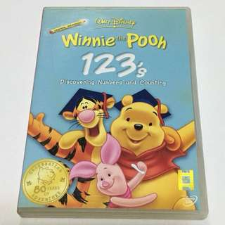 1DVD•CLEARANCE SALES {DVD, VCD & CD} Learning Adventures WALT DISNEY : Winnie the Pooh 123's Discovering Numbers and Counting - DVD