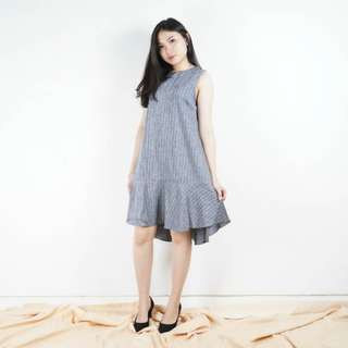 texture loose sleeve dress