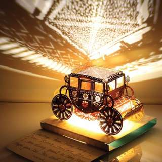 DIY miniature paper model with lights - Piano Light Model