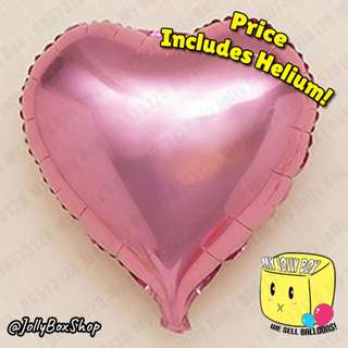 Last Chance to Impress! 18 Inch Balloon Hearts for Sale! Pink Hearts! Helium Filled Balloons. Less than 10 left! Call 98573128 to Confirm.