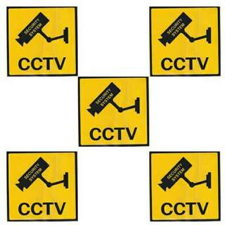 5pcs CCTV sticker