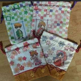 百變小櫻雙面日本和風索袋包包magic card sakura一番賞