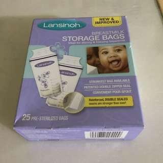 Lansinoh breast milk storage bag.