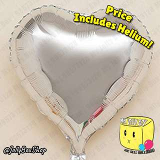 Last Chance to Impress! 18 Inch Balloon Hearts for Sale! Silver Hearts! Helium Filled Balloons. Less than 10 left! Call 98573128 to Confirm.
